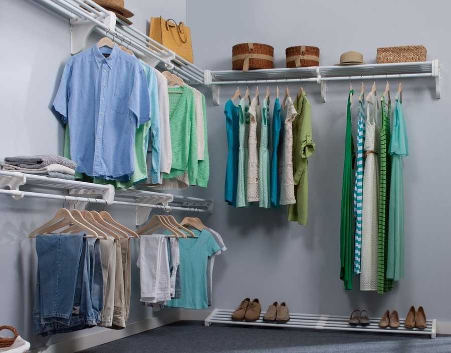 If you find your closet getting full, try donating or selling your old clothes to a thrift store to eliminate clutter.