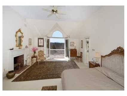 Luxury cathedral ceiling Master suite w/viewing balcony & grand marble spa bath