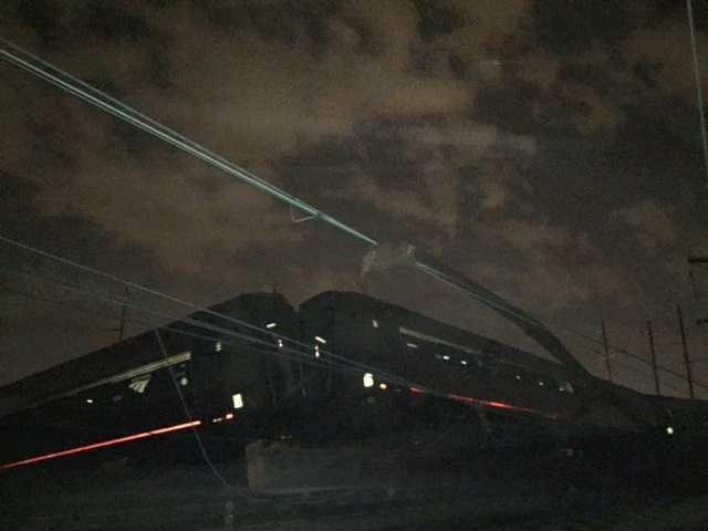 An Amtrak train crashed Tuesday, May 12, 2015, near Philadelphia. Train 188 was traveling from Washington to New York City. (AP Photo/Paul Cheung)