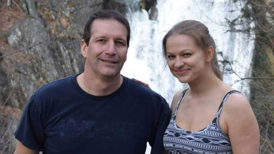 Angelika Graswald, seen in a Facebook photo, is charged in the death of her fiance, Vincent Viafore, left, who has been missing after his kayak overturned on the Hudson River.