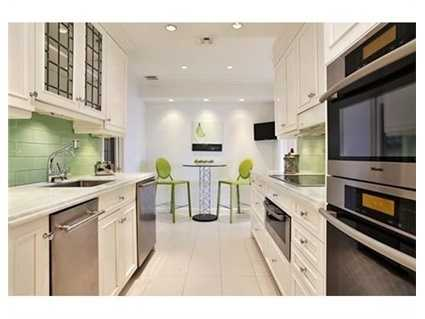Renovated beautiful kitchen with a breakfast nook & wine cellar.