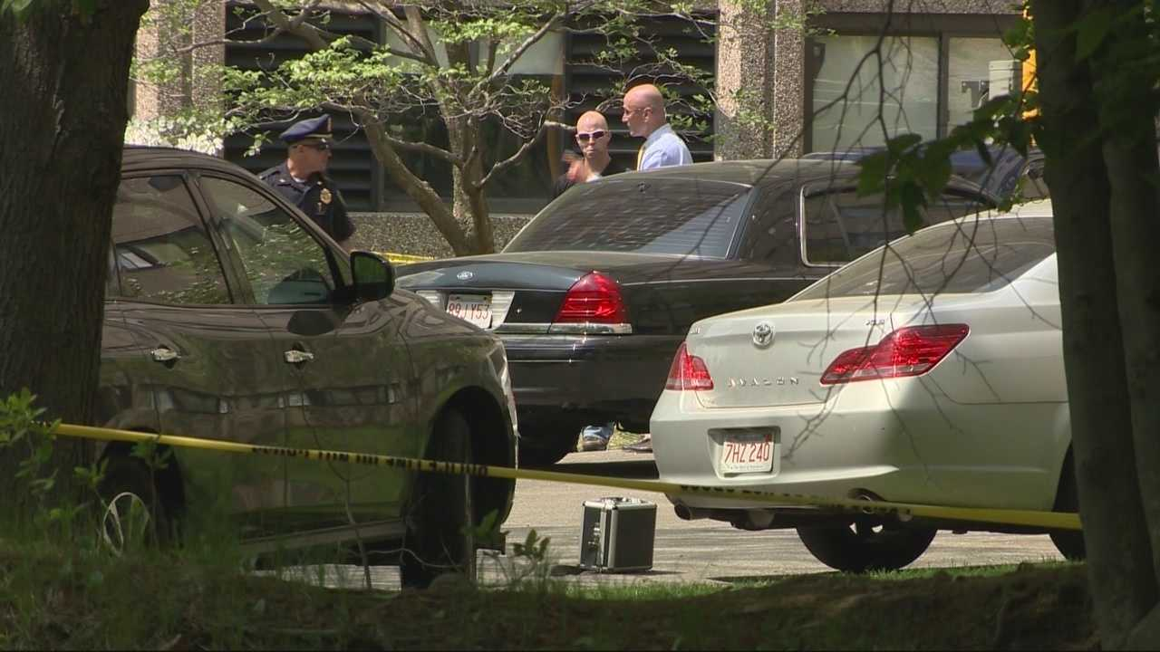 A man stabbed his wife to death before taking his own life at a Wakefield apartment building Sunday, according to police.