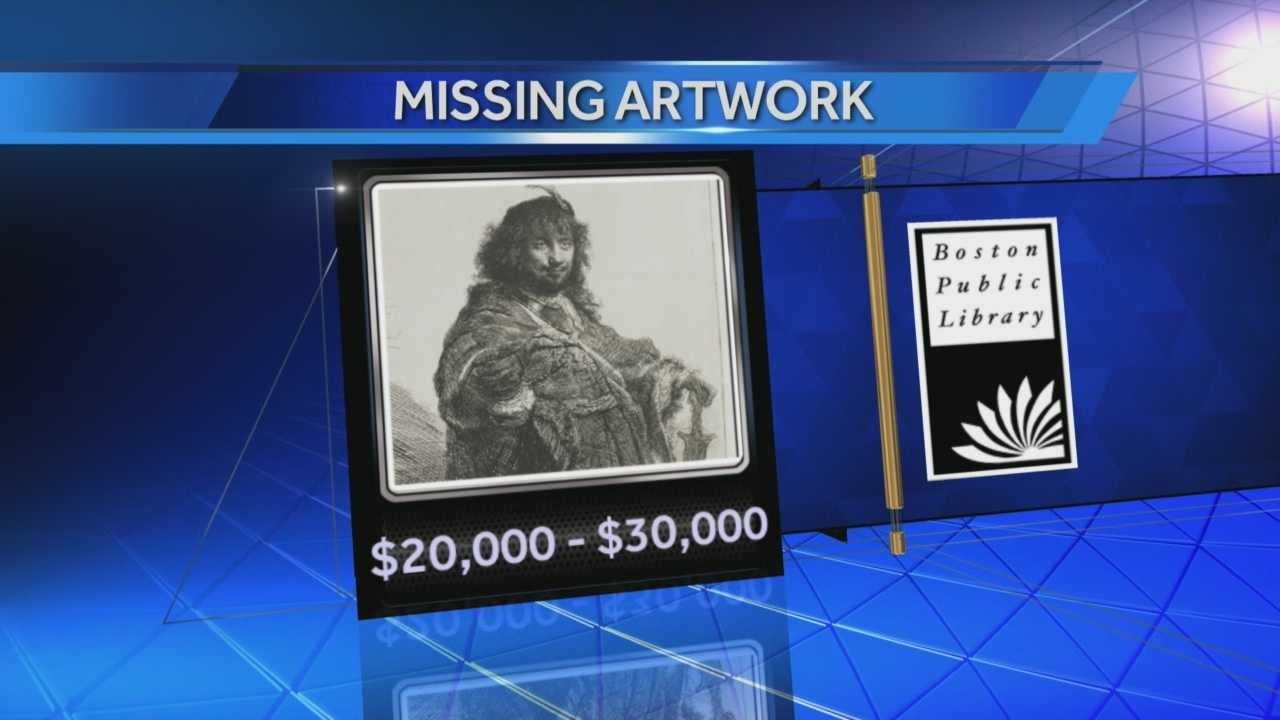 An engraving by Albrecht Durer and an etching by Rembrandt are missing from the Boston Public Library's print collection.