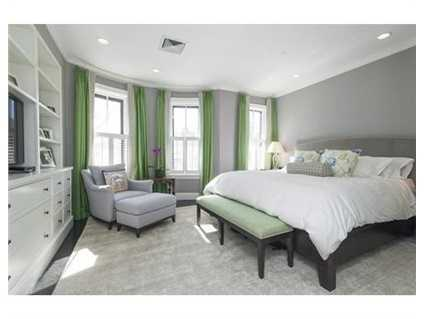 Opulent master suite with home office, marble bath and dressing room