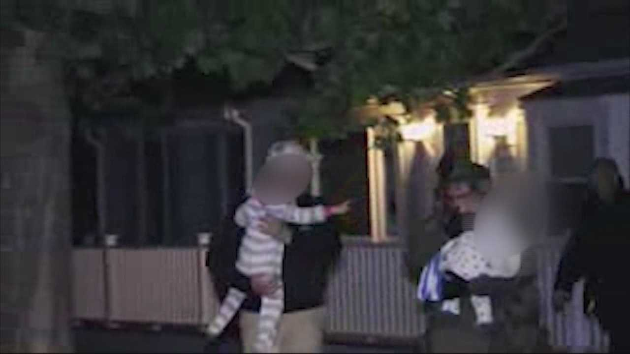 A man was barricaded in a home with a woman and two children.
