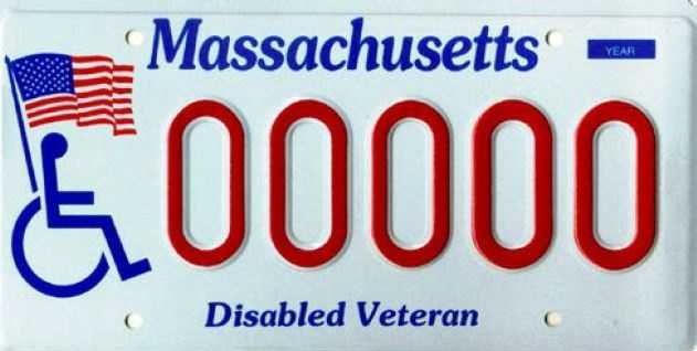 Disabled Veterans -- Issued to veterans with a military service connected 80% disability.