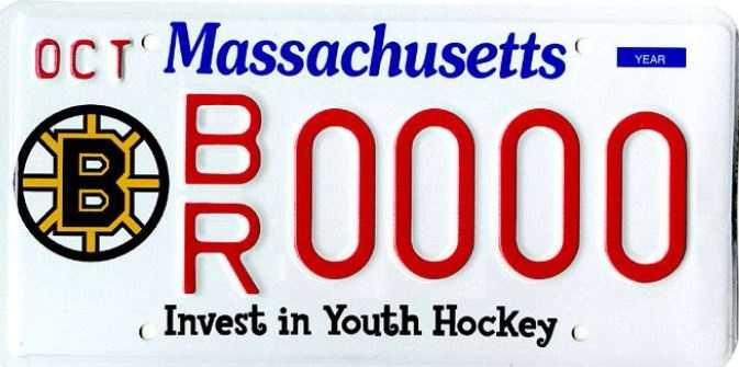 Bruins/Youth Hockey --Proceeds from this plate benefit Massachusetts Youth Hockey Inc.
