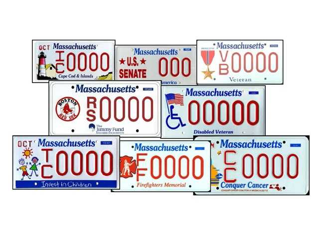 A look at some of the specialty license plates available to Massachusetts residents.