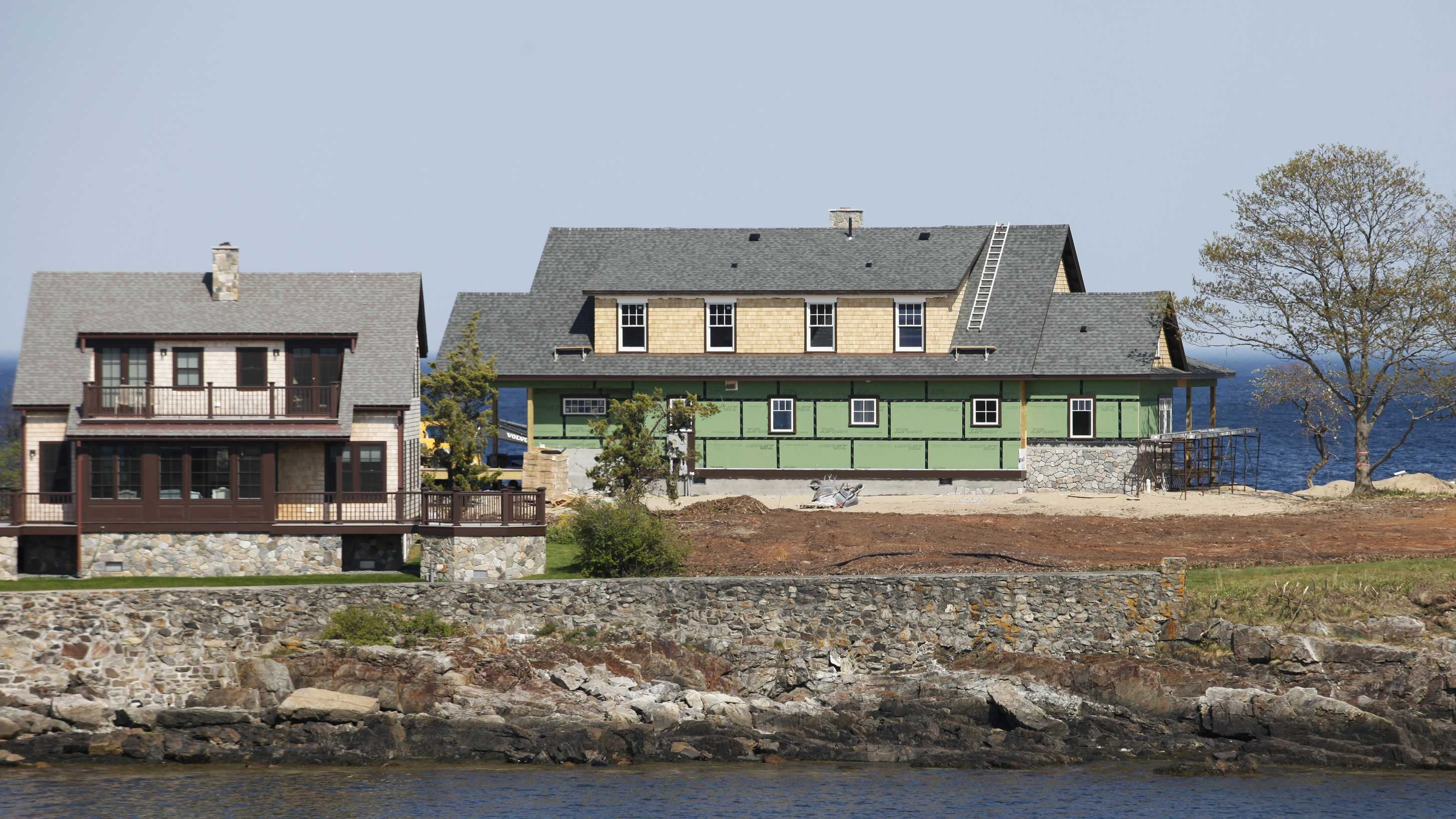 This May 24, 2015 photo shows former Florida Gov. Jeb Bush's vacation home under construction on Walker's Point in Kennebunkport, Maine. Bush is getting a house of his own at the family compound on the coast of Maine where generations of Bushes have spent summers.