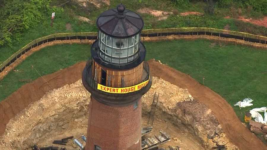 The lighthouse move had been slated to start June 10 but was pushed up because of favorable weather and faster-than-expected site preparation work.
