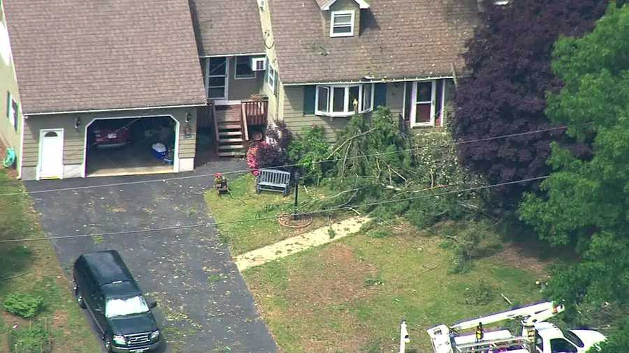 The National Weather Service confirms a microburst caused this damage in Methuen.