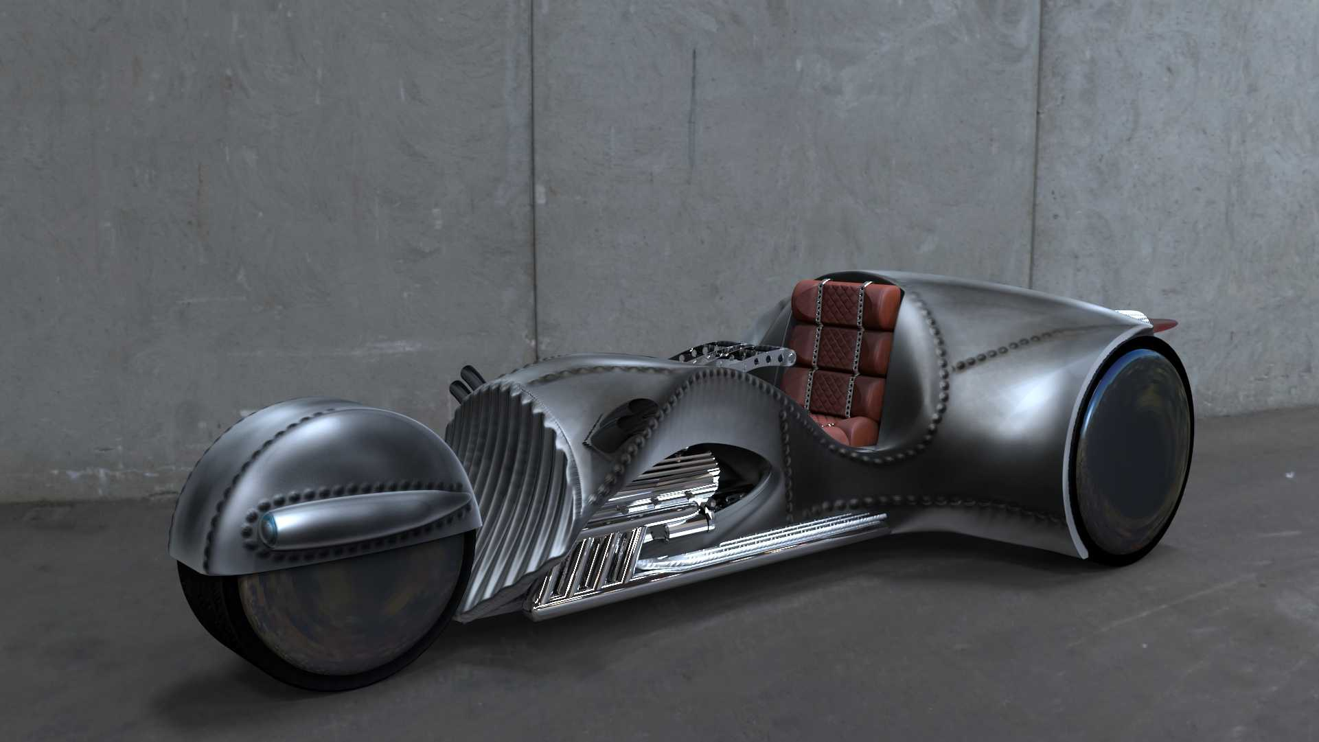 "This photo provided by courtesy of American Wrench/Rivet Motors shows American Wrench's Rivet motorcycle. ""Star Trek"" star, William Shatner, has partnered with custom motorcycle builder American Wrench to create the Rivet motorcycle. Shatner is boldly traveling across the U.S. on the three-wheeled motorcycle launching the journey June 23, 2015, outside of Chicago."
