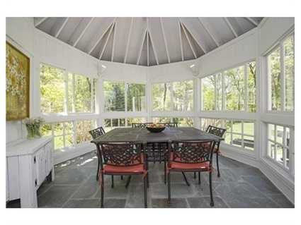 Grill and dine under the stars on bluestone terrace or in the fabulous octagonal screened porch.