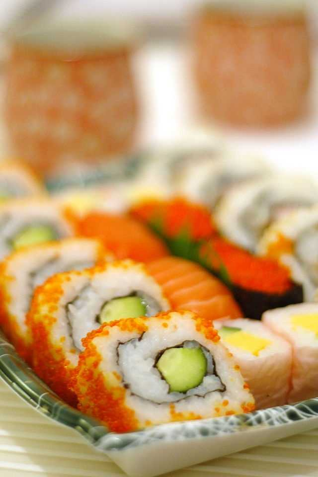 Sushi rolls:  If you're stressed out try eating some sushi, especially if it has salmon and brown rice. Fatty fish contain omega-3 fatty acids which help protect the heart from stress-induced disease.