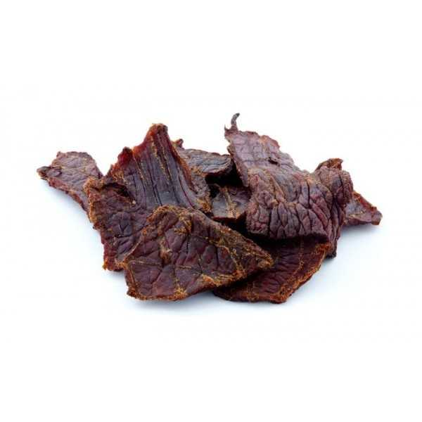 Grass-fed beef jerky: The antioxidants and omega-3's found in grass-fed beef jerky will help regulate your blood sugar levels and fight stress.