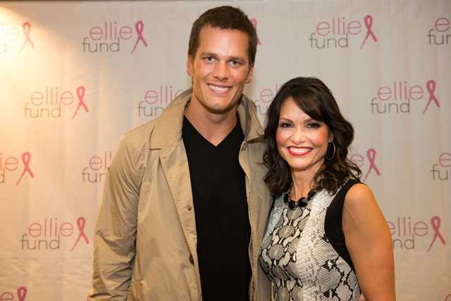 Tom Brady with former NewsCenter 5 anchor Liz Brunner