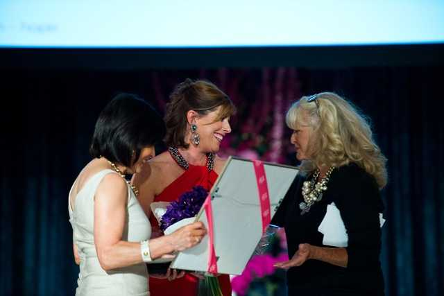 Gail Fine, Executive Director of the Ellie Fund, Kelley Tuthill and former WCVB anchor Susan Wornick.