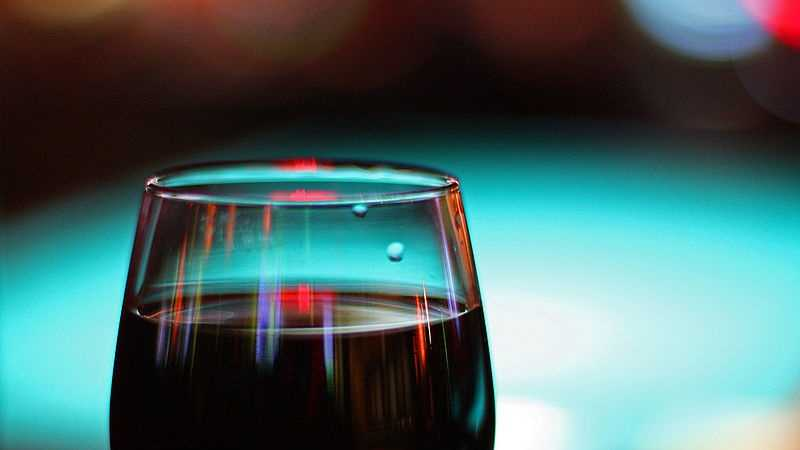 A 6 fl. oz. glass of wine with 13 percent alcohol by volume contains 159 calories.