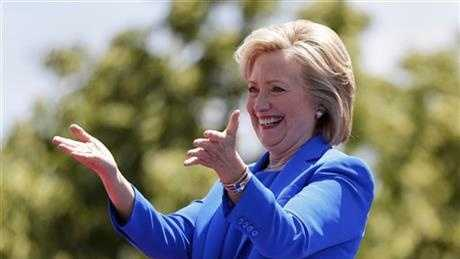 "Hillary Rodham Clinton formally kicked off her presidential campaign on Saturday with an enthusiastic embrace of her potential to become the first woman to win the White House, asking supporters gathered at an outdoor rally to join her in building an America ""where we don't leave anyone out, or anyone behind."""