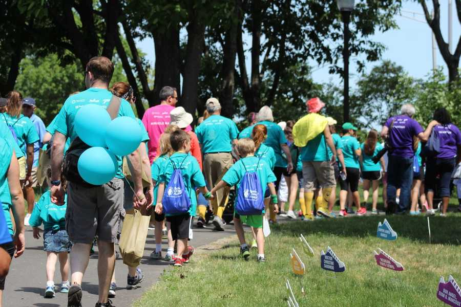 Thousands of walkers raised millions of dollars for Boston Children's Hospital Sunday in its annual walk.