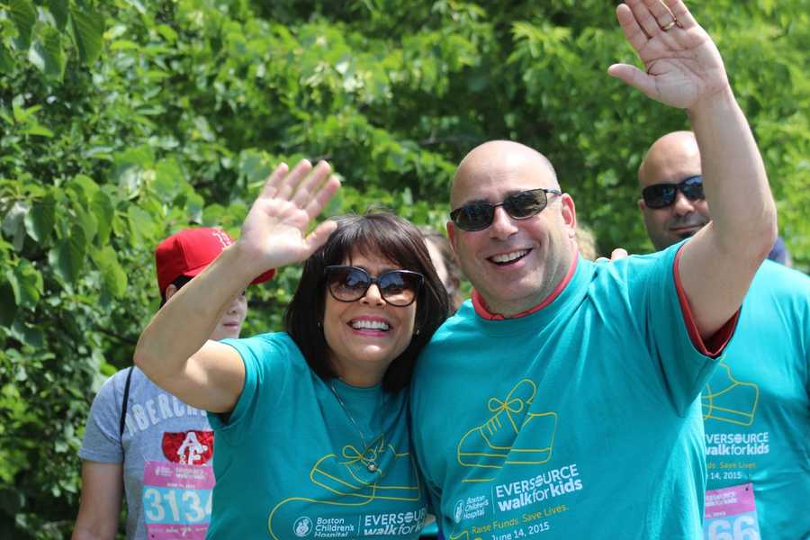 Part of Team WCVB: Gail Fine, Director of the Ellie Fund, and Rick Zetra of WCVB Sales.