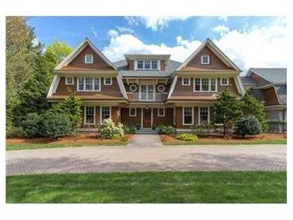 Young shingle-style estate by master craftsman with sweeping four season views of beautiful farmland and meadow