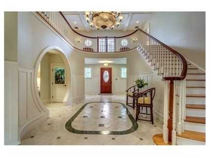 There's a stunning 30 foot foyer.
