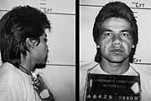 Arturo Vidriales. Escaped from the custody of the Massachusetts DOC in 1990. At the time of his escape, he was serving a 3-5 year state prison term for trafficking in cocaine. Vidriales is described as a Hispanic male, 5 ft. 11 in. tall, 170 pounds, black hair and hazel eyes.