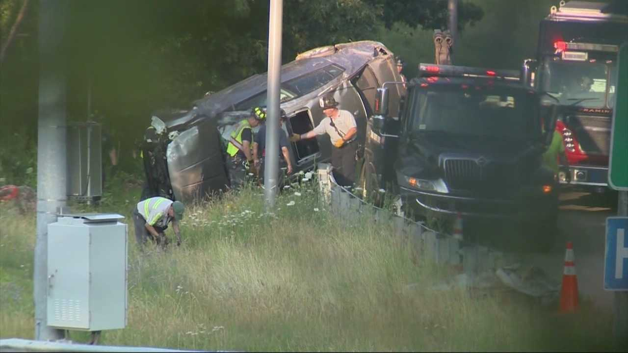One person is dead following a crash on the Mass Pike in Framingham on Saturday afternoon.