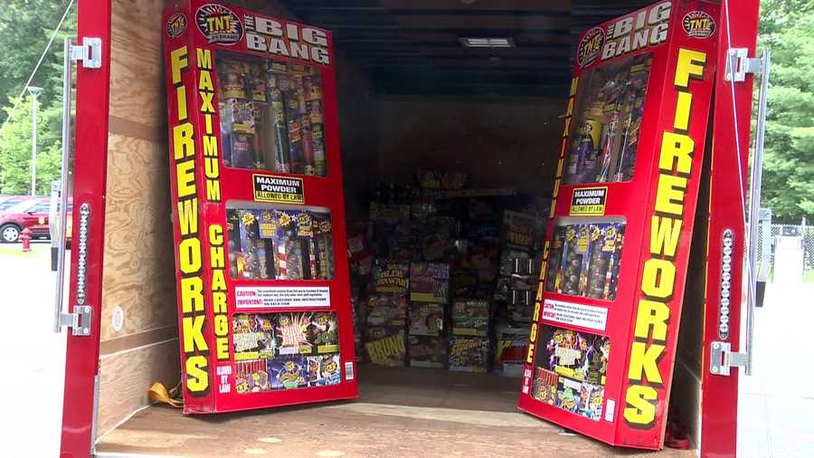 Massachusetts officials showed off the fireworks seized across the state in the days leading up to the Fourth of July.