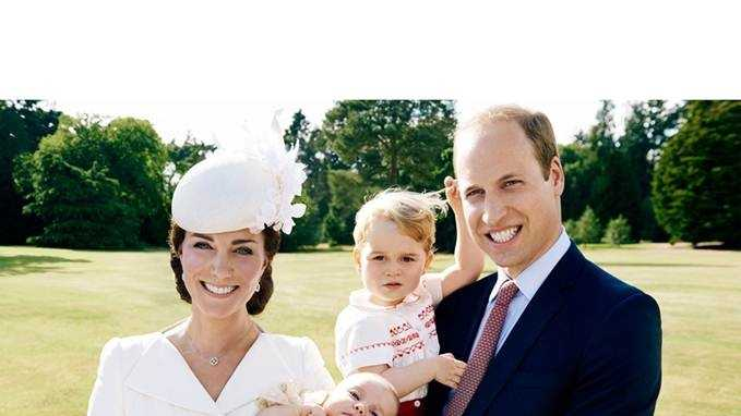 Prince William and his wife, Kate, marked a milestone for their newborn baby Princess Charlotte on Sunday - a christening ceremony on Queen Elizabeth II's country estate that was steeped in royal tradition.  On Thursday, official photos were released.The Duke and Duchess of Cambridge with Prince George and Princess Charlotte in the garden at Sandringham House