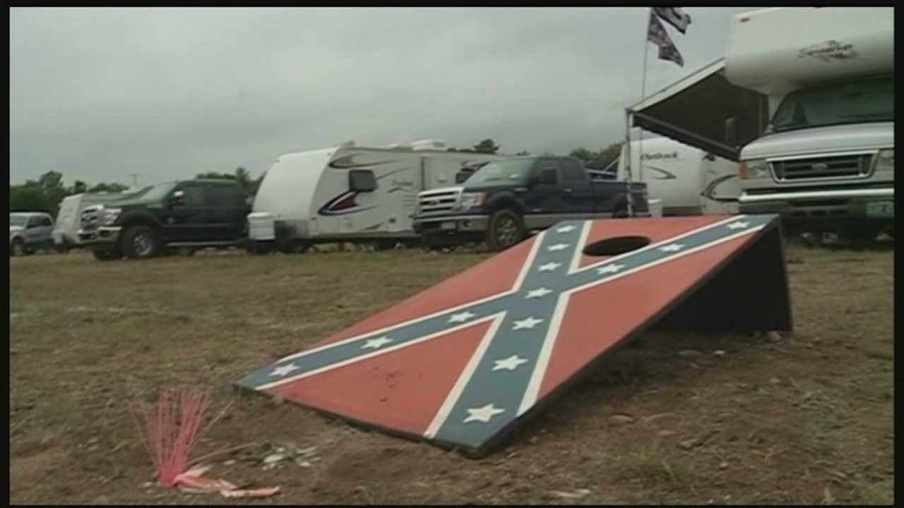 Hundreds of NASCAR fans traveled to Loudon, New Hampshire, for the 5-Hour Energy 301 NASCAR Sprint Cup Series Race, and dozens of Confederate flags were on display.