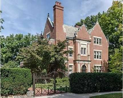 Located in Fisher Hill, is this masterfully crafted 12 room brick Jacobean home
