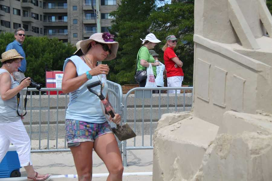 Sand sculptors turn sand into works of art in this year's Revere Beach National Sand Sculpting Festival & Competition.
