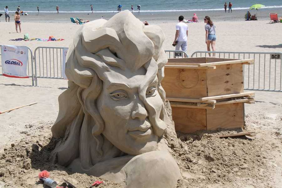 Belcher has been a sand sculptor since 1990.