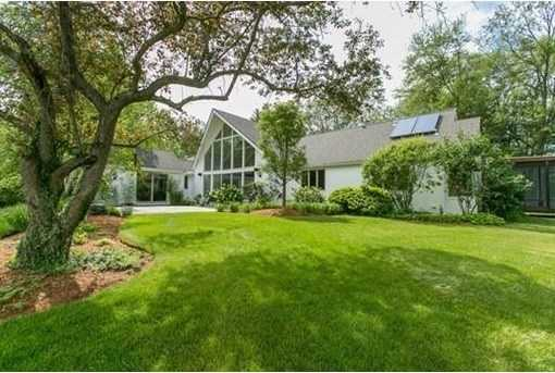 Spectacular Contemporary sited in a scenic neighborhood of estate homes and historic farmsteads.
