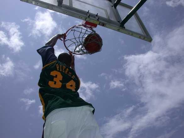 8.) Dunks. Everywhere it's it's slamming a basketball through a hoop