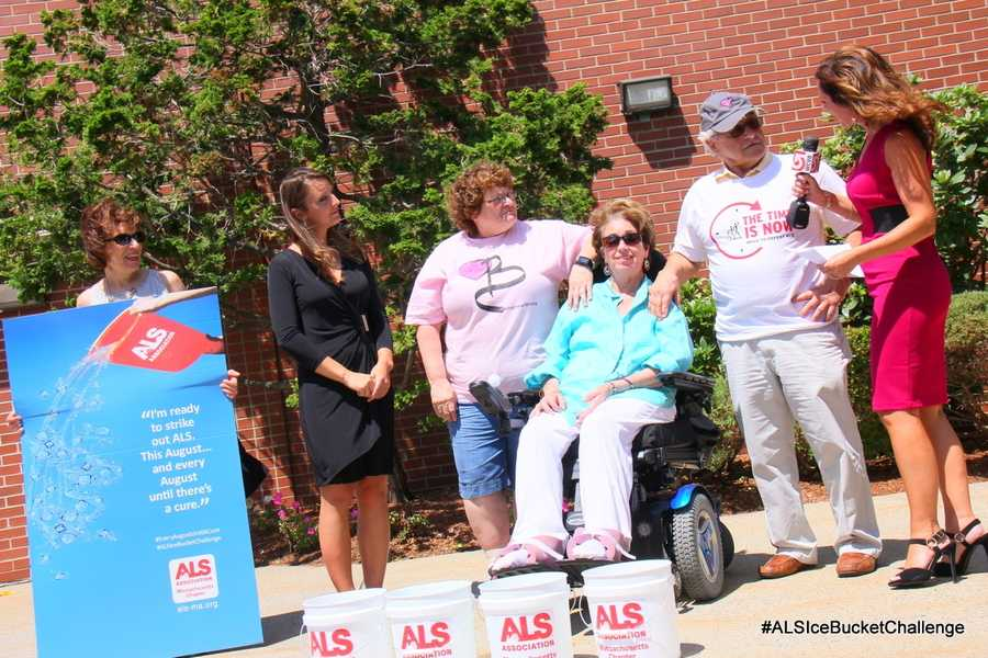 The #IceBucketChallenge was inspired by Pete Frates, of Beverly, who was diagnosed with the disease and dared a few people to try it with the goal of raising awareness of ALS.