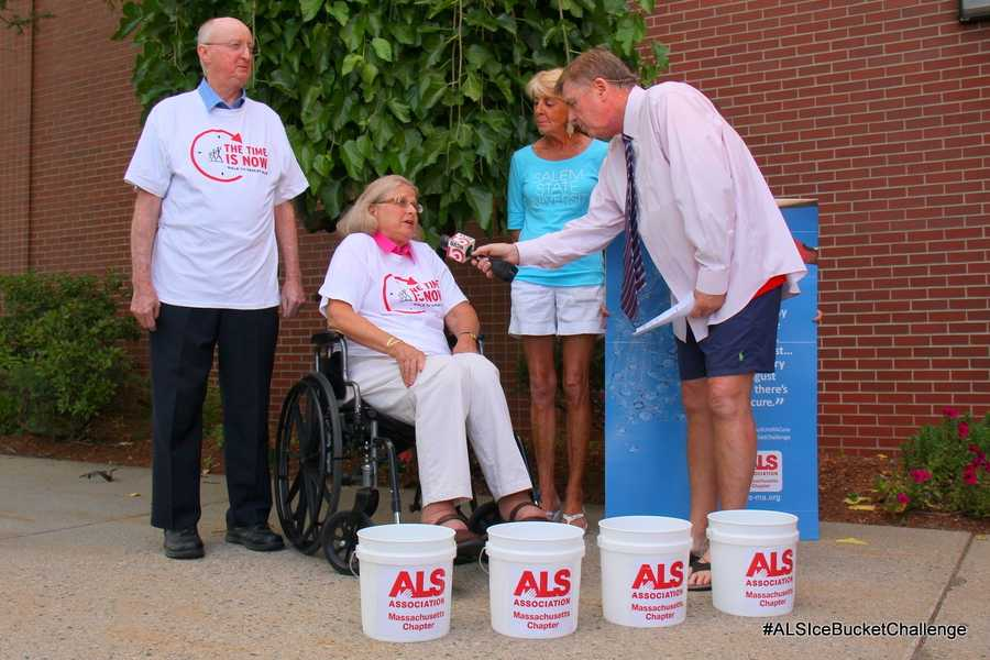 Marilyn Sanford and Kathy McKenna joined SportsCenter 5's Mike Lynch on NewsCenter 5 at 6:00 Monday evening to take the Ice Bucket Challenge.