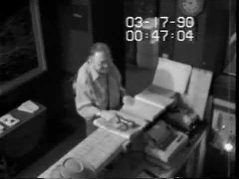 Still images from FBI never-before-seen-surveillance video from the 25-year-old mystery of the theft of 13 works of art from the Gardner Museum in Boston.