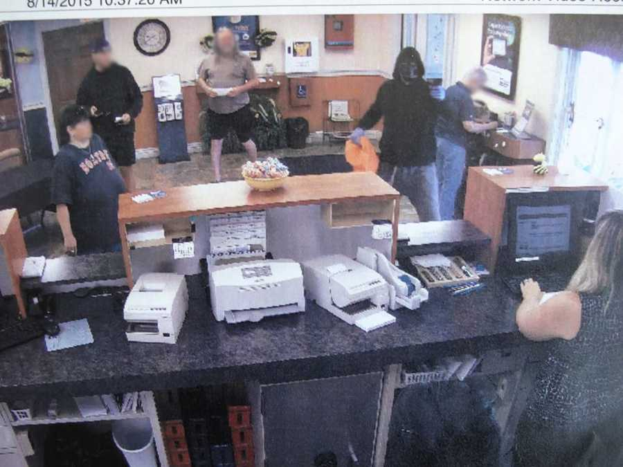 Police said a masked man armed with a gun robbed a bank in Franklin Friday morning.