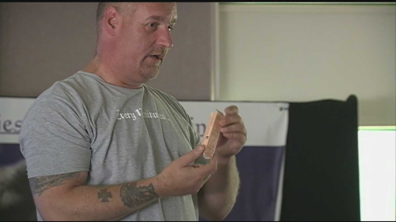 John Burns held a Narcan demonstration Saturday and spoke from personal experience. His daughter was saved from a heroin overdose last year after she was given the drug.