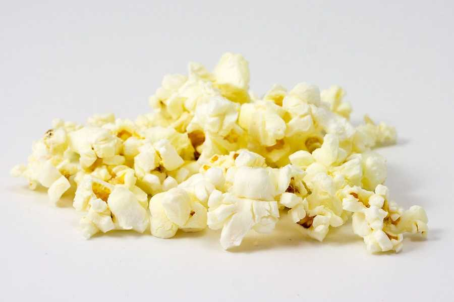 PopcornLook for low-fat popcorn that can be popped at home and then put into plastic bag or Tupperware container for easy transportation to school.