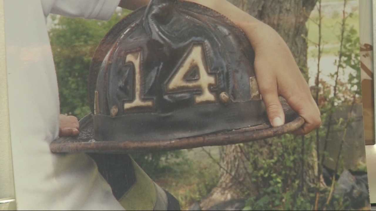 A Boston firefighter is on the hunt for his helmet after it was stolen from the back of his truck.