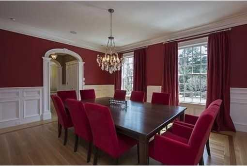 Elegant dining room with butler's pantry.