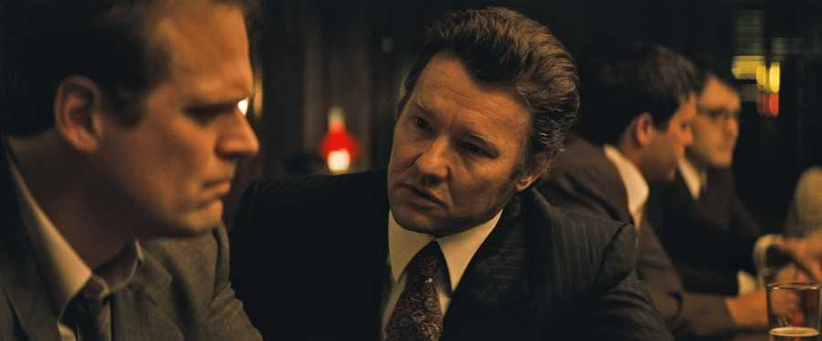"(L-r) DAVID HARBOUR as John Morris and JOEL EDGERTON as John Connolly in the drama ""BLACK MASS,"" a presentation of Warner Bros. Pictures in association with Cross Creek Pictures and RatPac-Dune Entertainment, released by Warner Bros. Pictures."