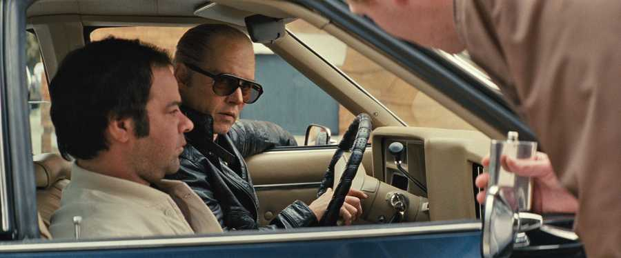 "(L-r) RORY COCHRANE as Stephen Flemmi and JOHNNY DEPP as Whitey Bulger in the drama ""BLACK MASS,"" a presentation of Warner Bros. Pictures in association with Cross Creek Pictures and RatPac-Dune Entertainment, released by Warner Bros. Pictures."
