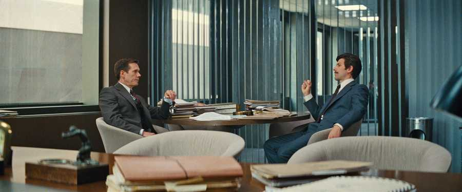 "(L-r) KEVIN BACON as FBI Agent Charles McGuire and ADAM SCOTT as FBI Agent Robert Fitzpatrick in the drama ""BLACK MASS,"" a presentation of Warner Bros. Pictures in association with Cross Creek Pictures and RatPac-Dune Entertainment, released by Warner Bros. Pictures."