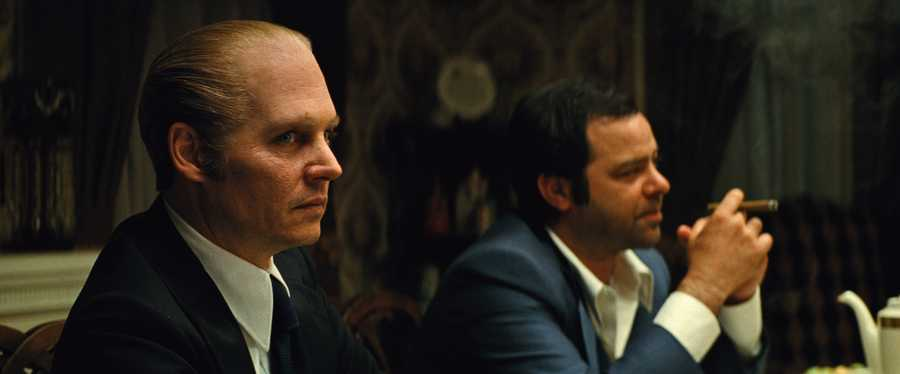 "(L-r) JOHNNY DEPP as Whitey Bulger and RORY COCHRANE as Stephen Flemmi in the drama ""BLACK MASS,"" a presentation of Warner Bros. Pictures in association with Cross Creek Pictures and RatPac-Dune Entertainment, released by Warner Bros. Pictures."
