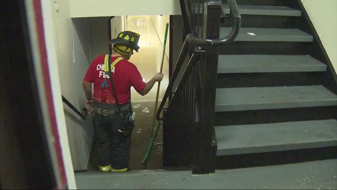 A 12-story Chelsea apartment building was deliberately flooded early Saturday morning causing damages worth over $100,000.